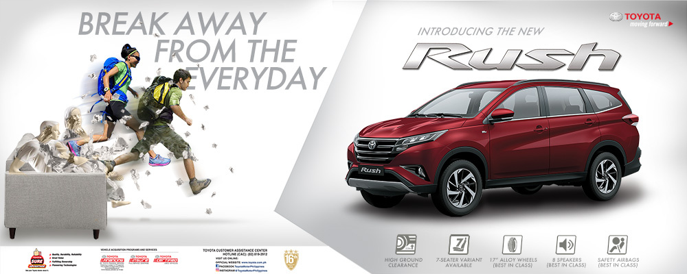 Introducing the new Toyota Rush