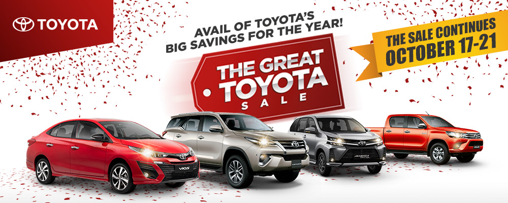 The Great Toyota Sale extended until October 17-21