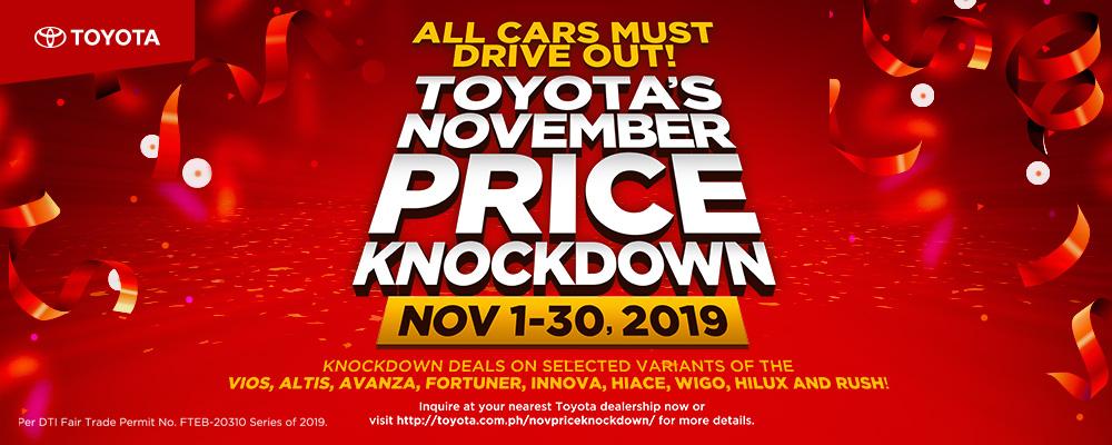 Toyota's November Price Knockdown
