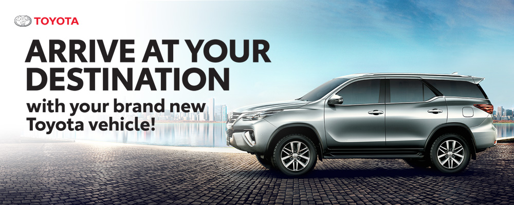 Arrive at you destination with your brand new Toyota vehicle!