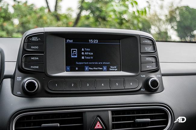 2018 Hyundai Kona infotainment