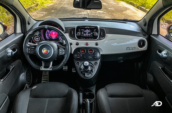 2019 abarth 595 interior