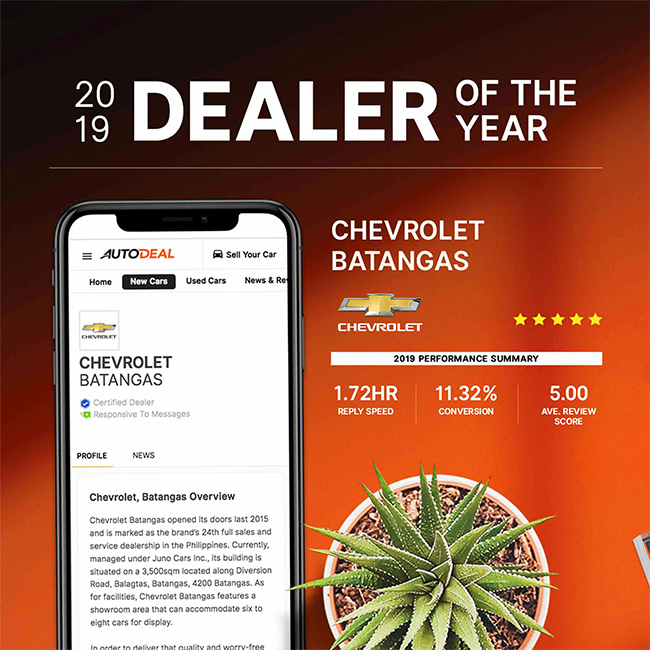 2019 AutoDeal Dealer of the Year | Chevrolet Batangas