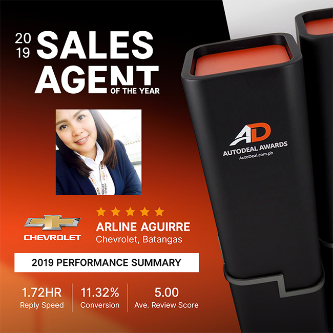 2019 AutoDeal Sales Agent of the Year | Arline Aguirre, Chevrolet Batangas