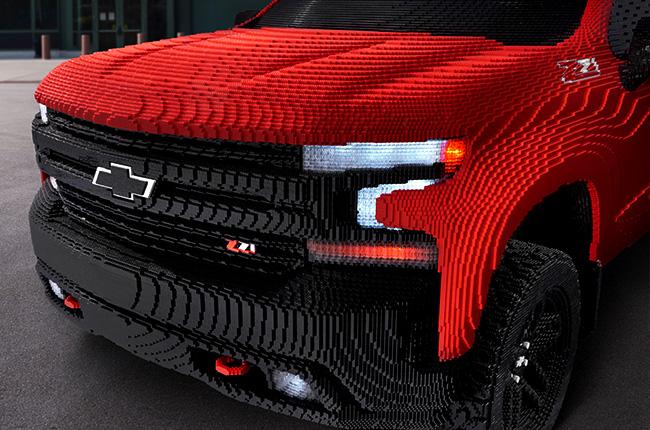 2019 Chevrolet Silverado Lego front
