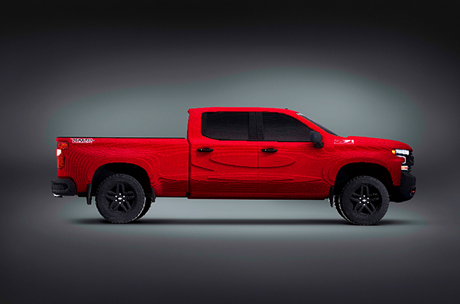 2019 Chevrolet Silverado Lego side