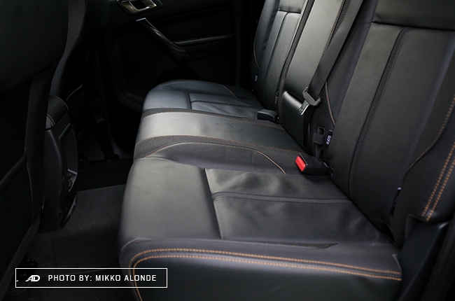 2019 Ford Ranger Wildtrak 2.0 Single-Turbo Interior Rear Seat Space