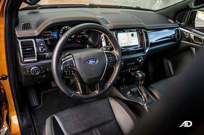 2019 Ford Ranger Wildtrak Biturbo 2.0 4x4 interior
