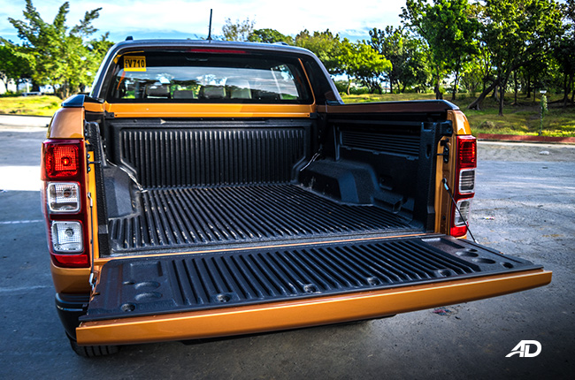 2019 Ford Ranger Wildtrak Biturbo cargo bed