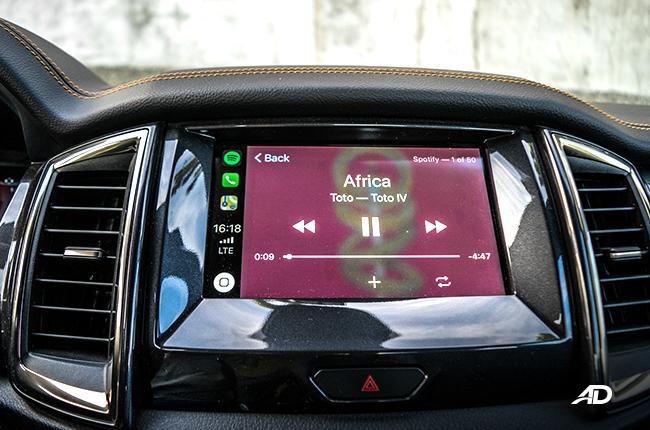 2019 Ford Ranger Wildtrak Biturbo infotainment