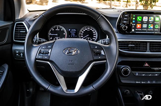 2019 Hyundai Tucson steering wheel