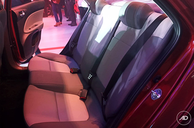 2019 Kia Soluto Philippines rear seats