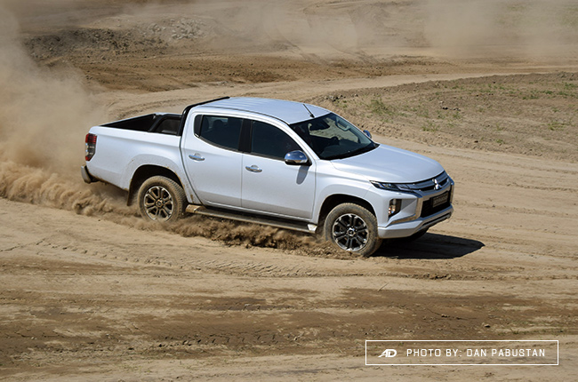 2019 Mitsubishi Strada 4x4 on dirt