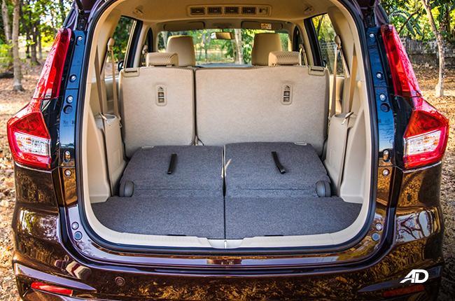 2019 Suzuki Ertiga interior Rear Seats Down