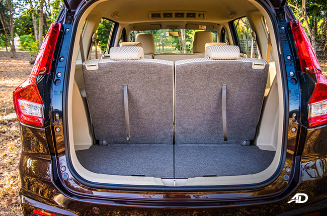 2019 Suzuki Ertiga interior Rear Seats Up