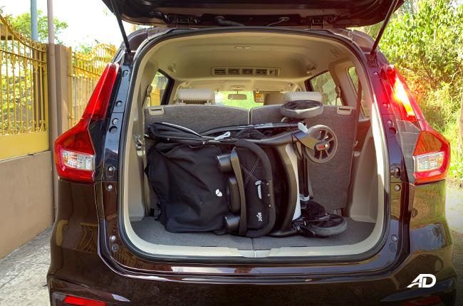 2019 Suzuki Ertiga interior Trunk Capacity