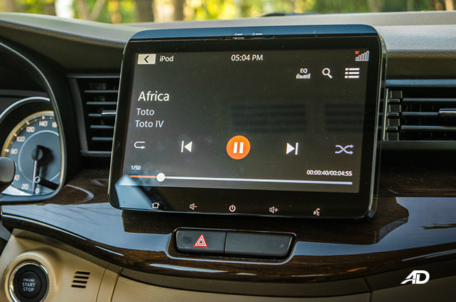 2019 Suzuki Ertiga Review Infotainment System