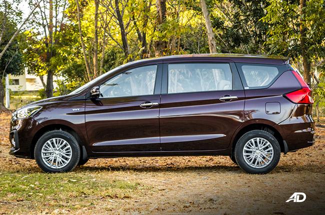 2019 Suzuki Ertiga Review Side Profile Image