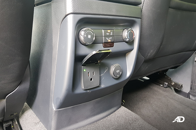 2020 Ford Everest 2nd row power sockets