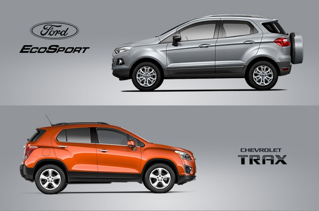 Car Comparo Ford Ecosport Vs Chevrolet Trax For Best Subcompact