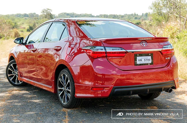 This doesn't affect the vehicle's styling because the front end of the Altis  is more than enough to ...