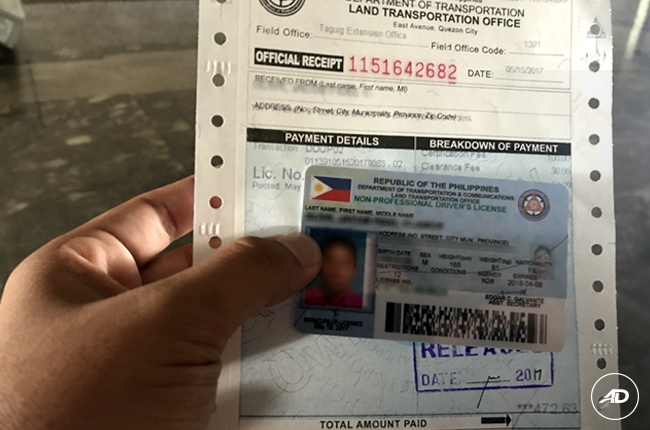 lost or stolen drivers license pa