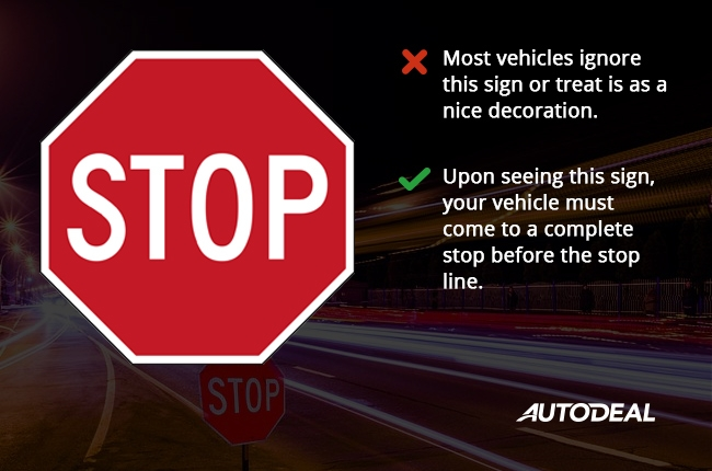 Driving 101 How To Follow Common Traffic Signs Autodeal