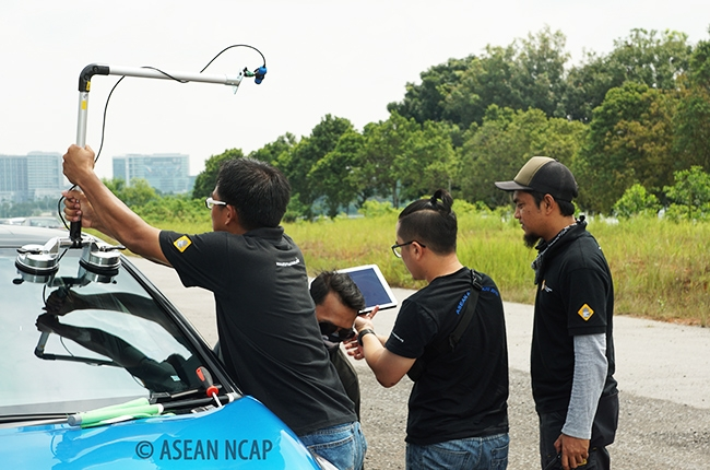 ASEAN NCAP Blind Spot Technology (BST) development test