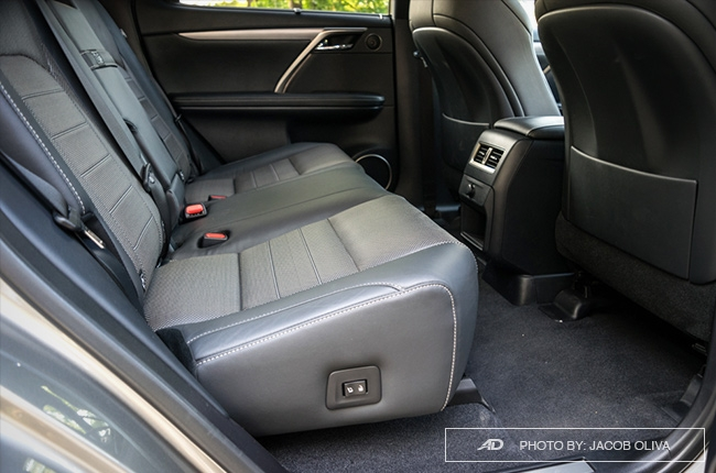 2018 Lexus RX 350 F Sport rear seats