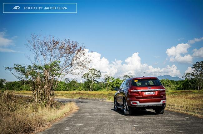2018 ford everest 3.2 titanium+ road rear