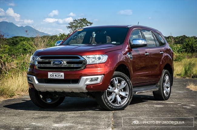 2018 ford everest 3.2 titanium+ front quarter