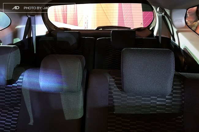 2018 Toyota Rush rear seats