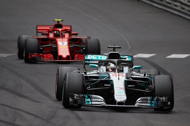 2018 Formula 1 Monaco Grand Prix Mercedes-AMG Ferrari