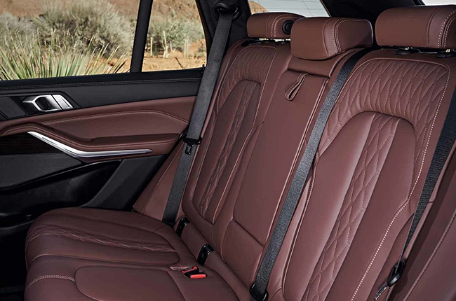 2019 BMW X5 rear seats