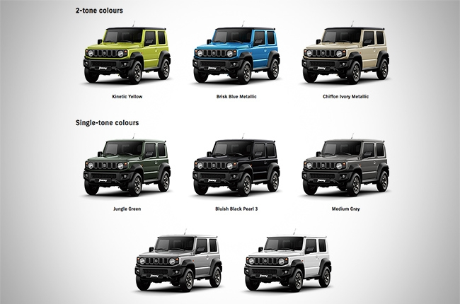 suzuki jimny philippines color choices