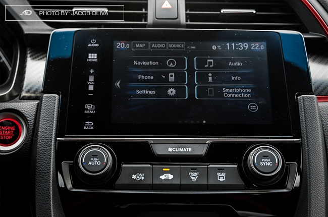 2018 Honda Civic Type R Philippines infotainment system
