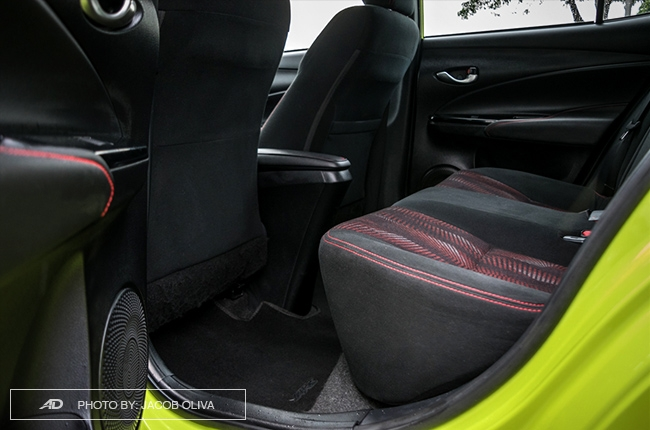 2018 toyota yaris 1.5 S rear legroom