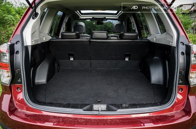 Subaru Forester XT trunk space