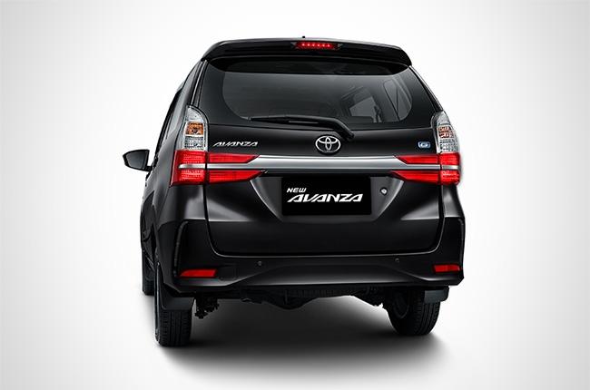 Facelifted Toyota Avanza rear