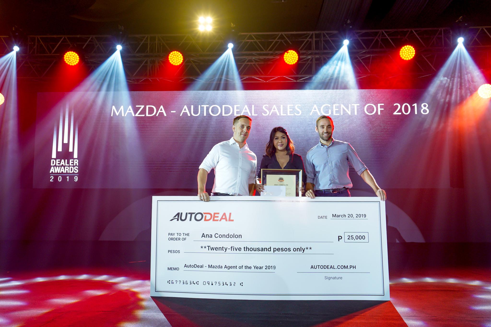 Ana Condolon - Mazda AutoDeal Agent of the Year 2018