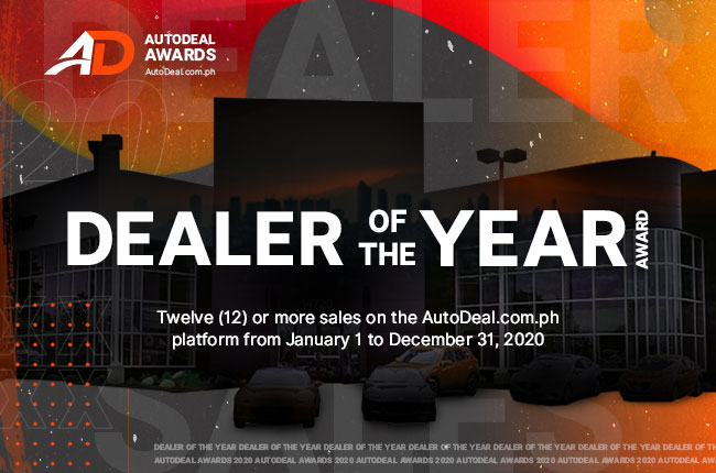 AutoDeal 2020 Dealer of the Year Award