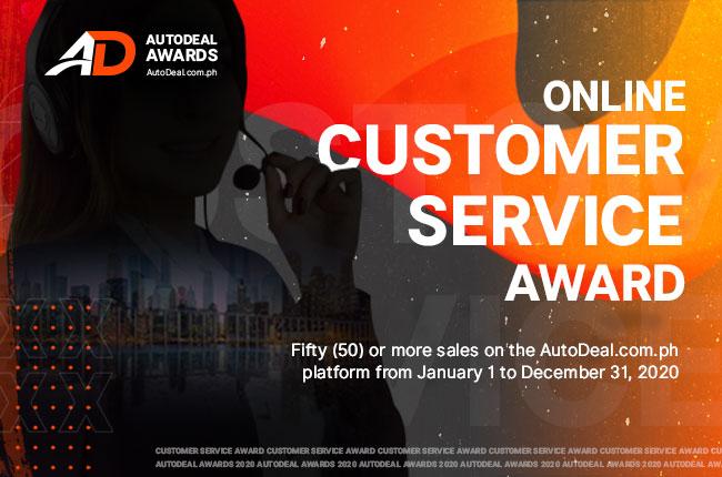 AutoDeal 2020 Online Customer Service Award