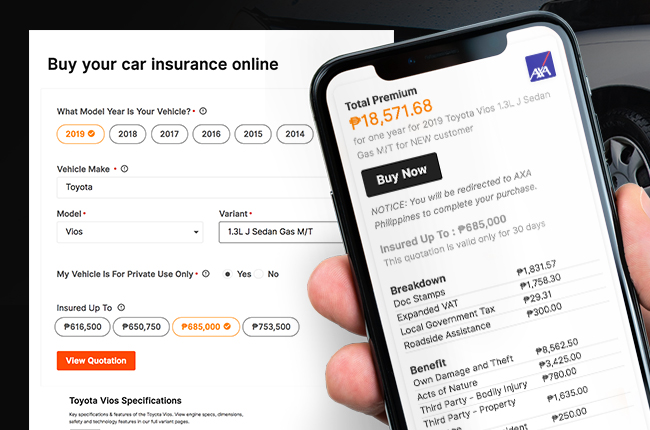 AutoDeal and AXA partnership Online Car Insurance