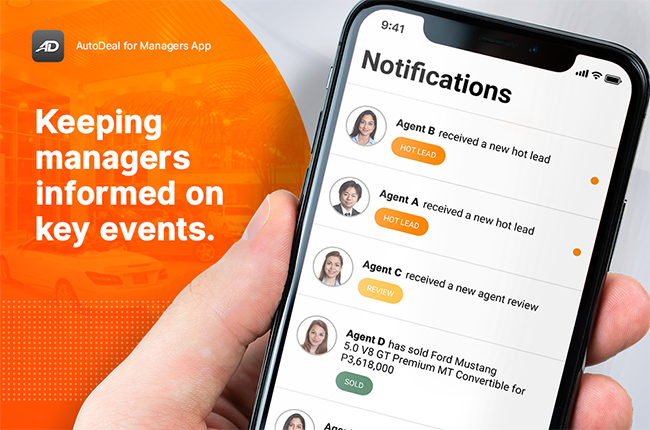 AutoDeal Manager's App Notifications