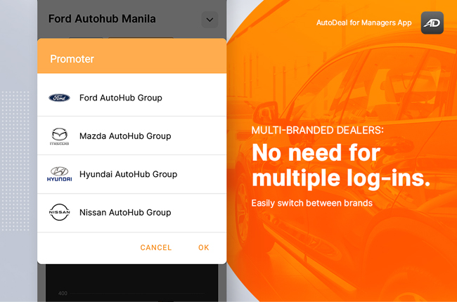 AutoDeal Manager's App Promoter Swticher