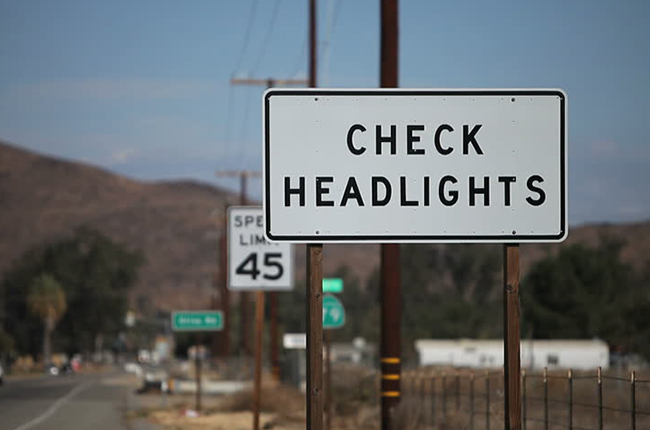 check headlights