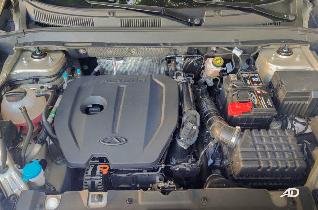 Chery Tiggo 8 Philippines 1.5-liter turbocharged engine
