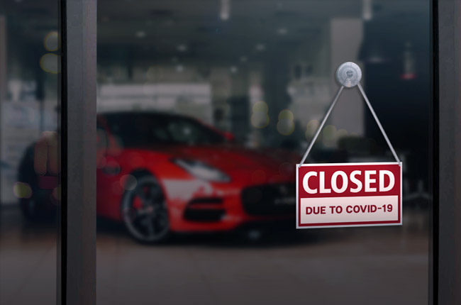 Closed Dealerships COVID-19