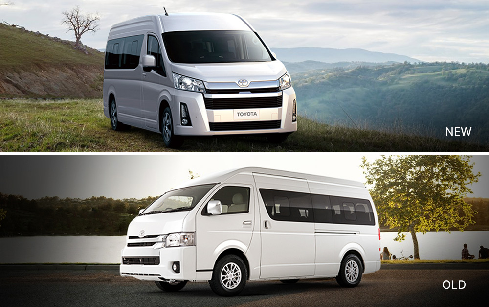 Face-off: Old vs 2019 Toyota Hiace