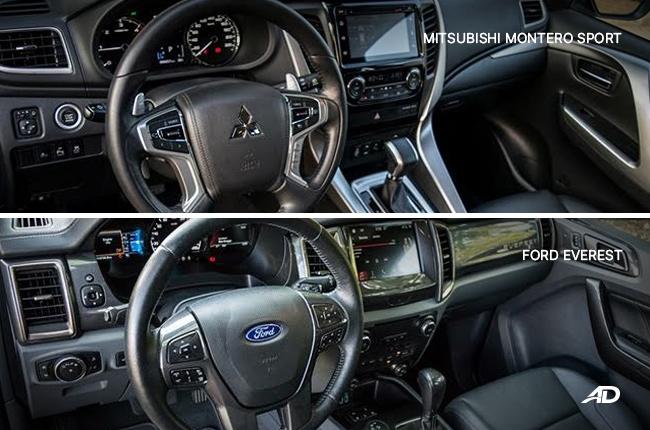 Ford Everest vs. Mitsubishi Montero Sport